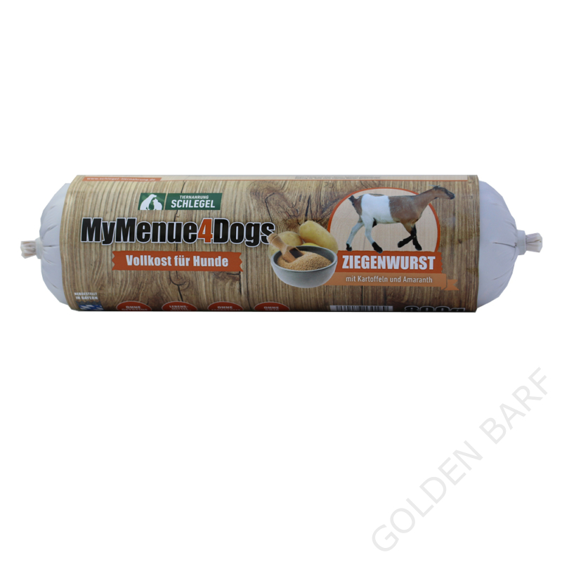 400 g - Kecskehús 92% hústartalommal, 5% burgonyával és 3% amaránttal